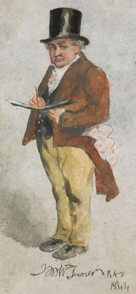 Portrait de William Turner à 69 ans (Charles Martin, 1844)