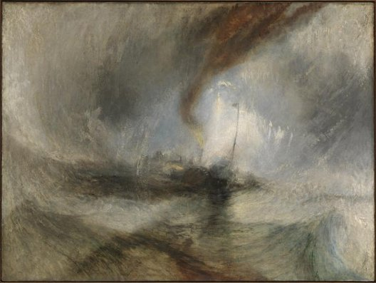 William Turner, Tempête de neige en mer, 1842, Londres, Tate Gallery