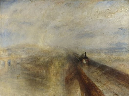 William Turner, Pluie, vapeur et vitesse, 1844, Londres, National Gallery
