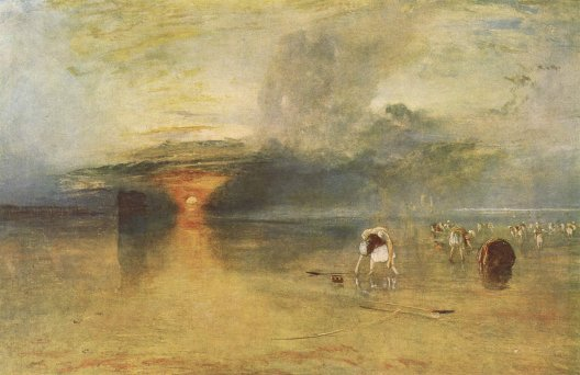 William Turner, La Plage de Calais, à marée basse, des poissardes récoltant des appâts, 1830, Bury Art Gallery and Museum