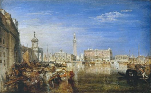 William Turner, Pont des Soupirs, Palais ducal et la Douane, 1833, Londres, Tate Gallery