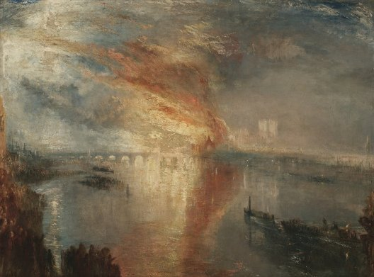 William Turner, Incendie des Chambres des Lords et des Communes, 1835, Cleveland, Museum of Arts