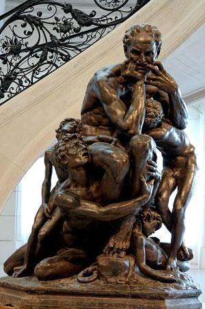 Ugolin entouré de ses quatre enfants (Jean-Baptise Carpeaux, Petit Palais, Paris)