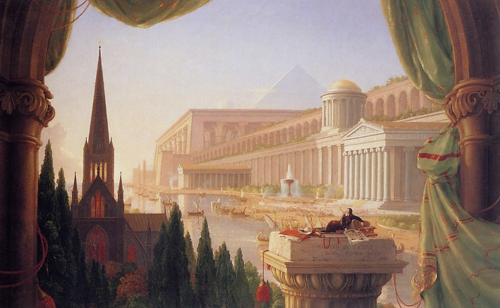 Thomas Cole, Le Rêve de l'architecte, 1840, Toledo Museum of Art, Ohio.
