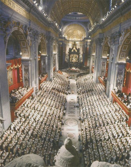 Ouverture du concile Vatican II le 11 octobre 1962 en présence de 2500 évêques (DR)
