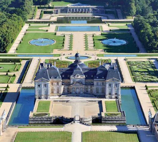 Vue aérienne du château de Vaux-le-Vicomte, 2014 (photo : Chicurel, Lourdel), DR