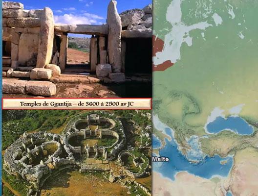 La protohistoire dans le monde, une carte animée de Vincent Boqueho pour Herodote.net, 2014