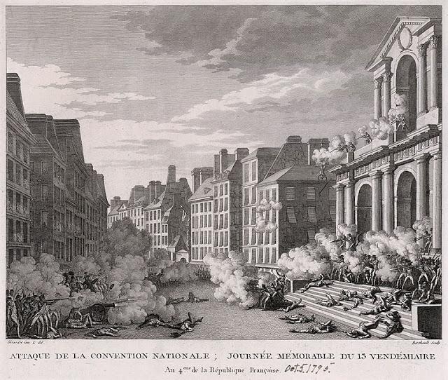 L'insurrection de Vendémiaire devant l'église Saint-Roch (Paris), gravure de Pierre-Gabriel Berthault d'après Abraham Girardet en 1795