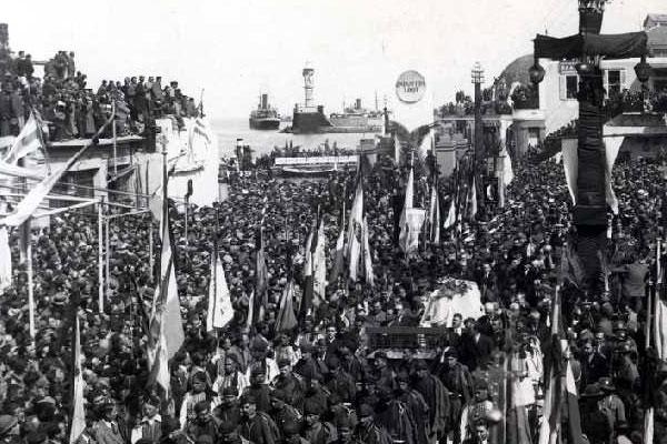 Funérailles nationales de Venizélos à La Canée (1936)