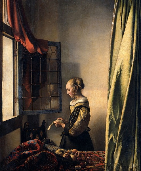 « La Liseuse à sa fenêtre », 1659, Pinacothèque, Dresde.