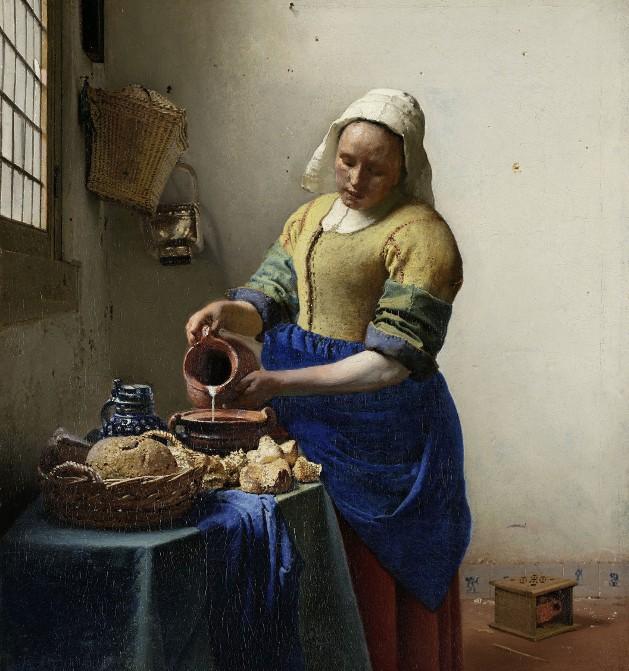 « La Laitière », Johannes Vermeer, v. 1661, Rijksmuseum, Amsterdam.