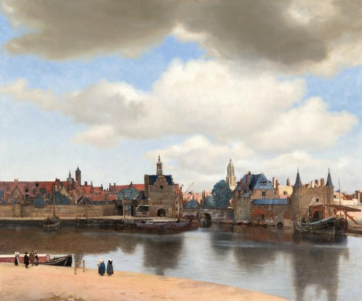 « Vue de Delft », Johannes Vermeer, v. 1661, Mauritshuis Museum, La Haye.