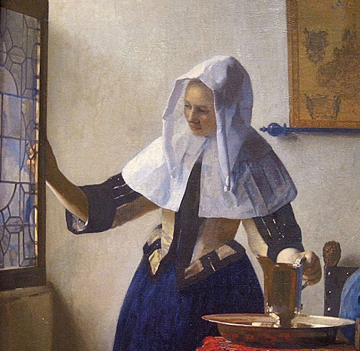« La Femme à l'aiguière », Johannes Vermeer, 1658,  New York, The Metropolitan Museum of Art, New-York.