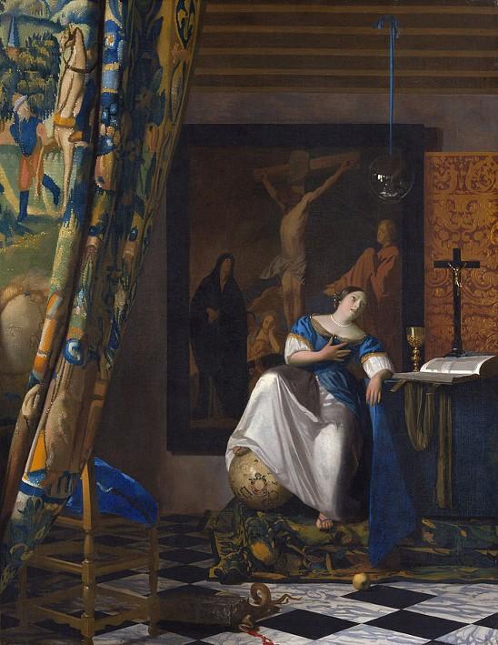 « L'Allégorie de la foi », Johannes Vermeer, vers 1670, The Metropolitan Museum of Art, New-York.