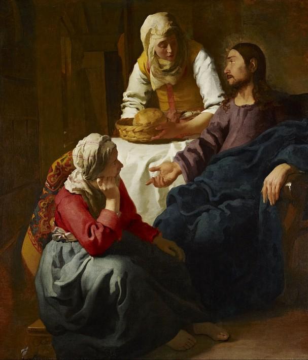 « Le Christ dans la maison de Marthe et Marie », Johannes Vermeer, 1655, National Gallery of Scotland, Édimbourg.