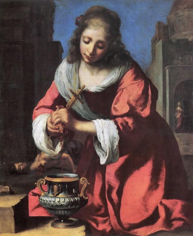 « Sainte Praxède », Johannes Vermeer, 1655, musée de la Chapelle de la Visitation, Monaco.