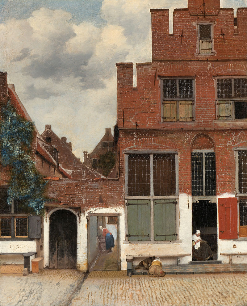 « La Ruelle », Johannes Vermeer, v. 1658, Rijksmuseum, Amsterdam.