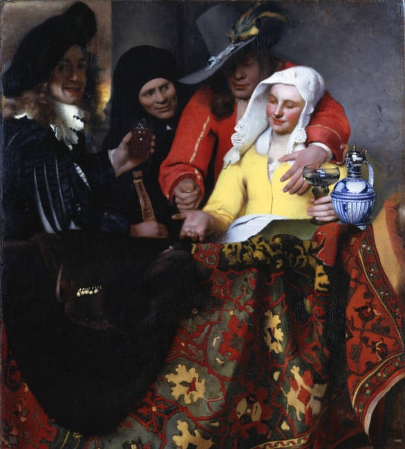 « L'Entremetteuse », Johannes Vermeer, 1656, Gemäldegalerie Alte Meister, Dresde.