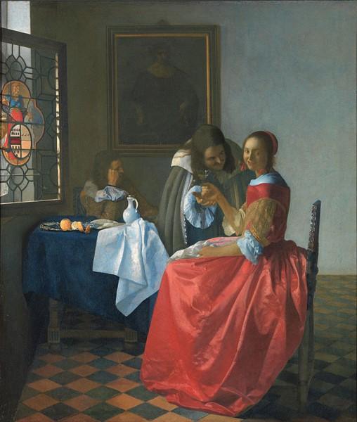 « La Jeune fille au verre de vin », 1659, musée Herzog Anton-Ulrich, Brunswick, Allemagne.