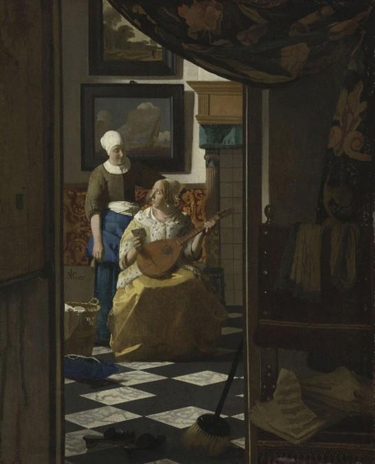 « La Lettre d'amour », Johannes Vermeer, v. 1669, Rijksmuseum, Amsterdam.