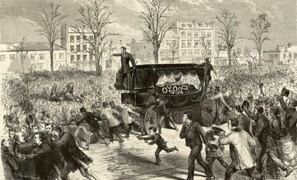 12 janvier 1870 - Funérailles tumultueuses de Victor Noir - Herodote.net