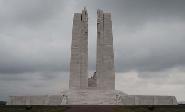 Le Mémorial de Vimy (photographie : Adrian Farwell, DR)