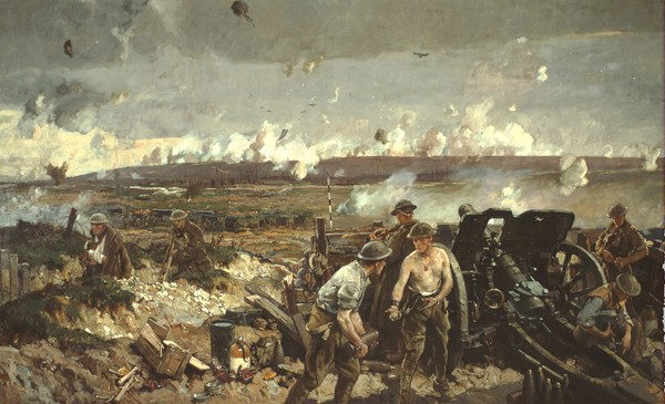 La prise de la crête de Vimy, le lundi de Pâques 1917 (Musée canadien de la guerre, Ottawa)