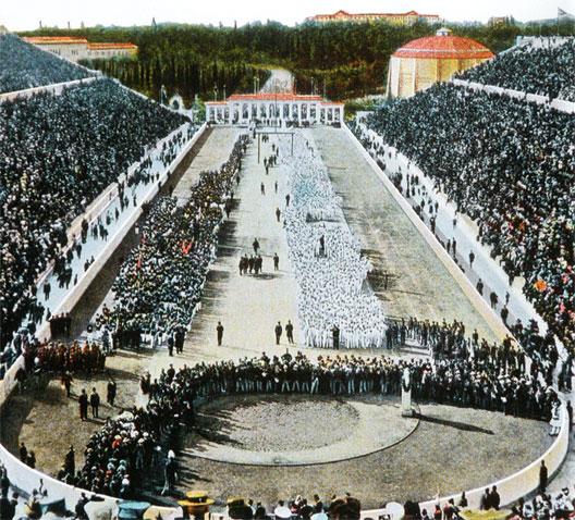 Ouverture des Jeux Olympiques, Athenes le 6 avril 1896.