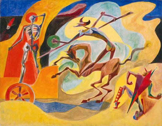 Andre Masson, Don Quichotte et le chariot de la mort, 1935, Cleveland, Museum of Art.