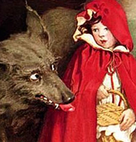 Le Petit chaperon rouge (illustration de Jessie Willcox Smith, 1911)