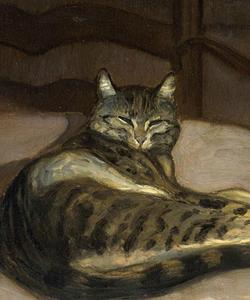 Chat dans un fauteuil (Alexandre Stenlein)