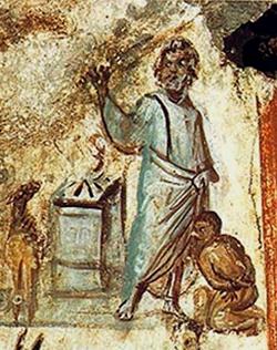 Le sacrifice d'Isaac (fresque paléochrétienne)