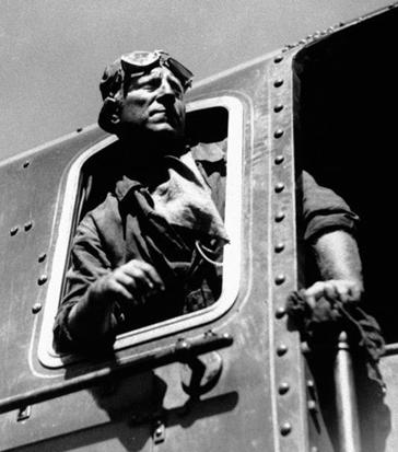 Jean Gabin dans La Bête humaine (film de Jean Renoir, 1938, d'après le roman éponyme d'Émile Zola, 1890)