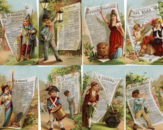 Journaux de la IIIe République (cartes postales)