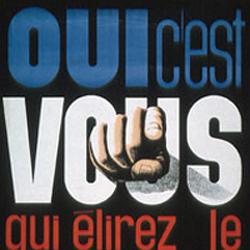 Affiche du referendum de 1962