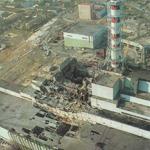 Le reacteur n°4 de Tchernobyl apres l'explosion, DR