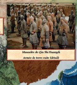 La naissance de l'empire chinois, carte animee de Vincent Boqueho